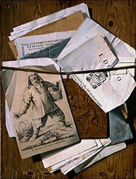 Egidio Maria Bondoni: Trompe l'oeil mit verschiedenen Drucken und Kupferplatte