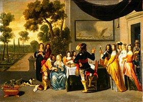 Christof Jacobsz.van der Lamen: Hochzeitsgesellschaft auf einer Gartenterrasse