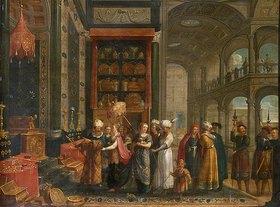 Adriaen van Umkreis Stalbemt: Salomo und die Königin von Saba
