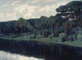 Walter Leistikow: Kiefern am See-Ufer