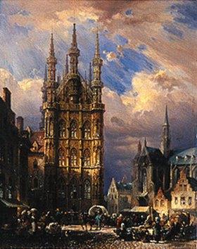 Friedrich Eibner: Das Rathaus zu Löwen (Brabant)