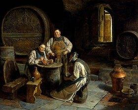 Eduard Grützner: Drei Mönche im klösterlichen Weinkeller