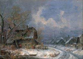 Heinrich Bürkel: Winterliches Dorf