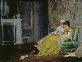 Felix Freiherr von Ende: Junge Damen bei der Lektüre im Salon