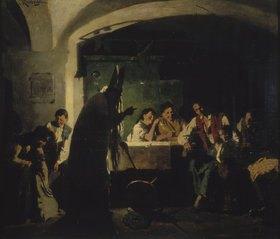 Carl Kronberger: Sankt Nikolaus bei der Bauernfamilie
