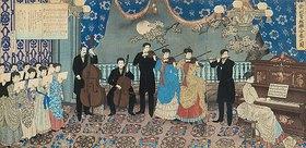 Hashimoto Chikanobu: Konzert mit europäischer Musik in Japan