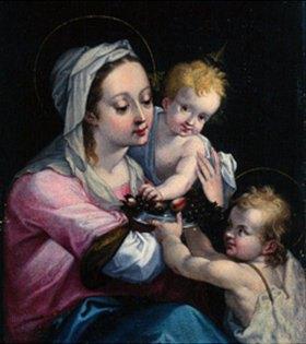 Süddeutsch: Maria mit Kind und dem Johannesknaben