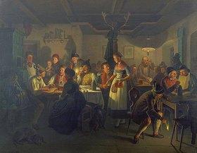 Moritz (Feuermüller) Müller: Abendunterhaltung in einem bayerischen Wirtshaus