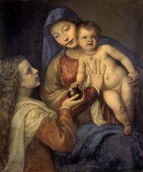 Tizian (Tiziano Vecellio): Madonna mit Kind und Maria Magdalena