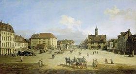 Bernardo (Canaletto) Bellotto: Der Marktplatz in der Neustadt von Dresden