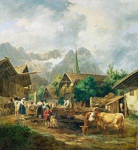 Peter von Hess: Morgen in Partenkirchen