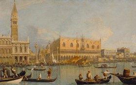Canaletto (Giov.Antonio Canal): Der Dogenpalast und die Piazetta in Venedig