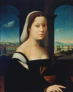 "Ridolfo Ghirlandaio: Portrait einer jungen Frau, ""La Monaca"""