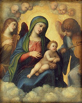 Correggio (Antonio Allegri): Madonna und Kind in der Glorie