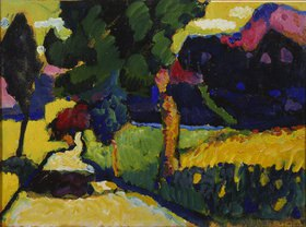 Wassily Kandinsky: Murnau - Sommerlandschaft