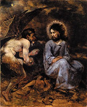 Hans Thoma: Die Versuchung Christi