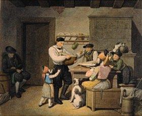 Georg Emanuel Opitz: Bauernfamilie bei der Mahlzeit