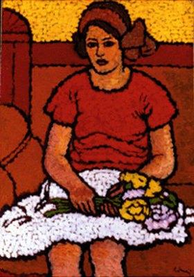 József Rippl-Rónai: Mädchen mit Blumenstrauss