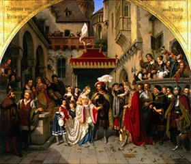 Wilhelm Nerenz: Die Hochzeit des Käthchen von Heilbronn mit dem Grafen Wetter
