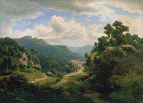 Leonhard Rausch: Romantische Waldlandschaft
