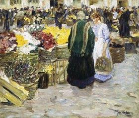 Max Stern: Blumenmarkt an der Rochuskirche in Düsseldorf