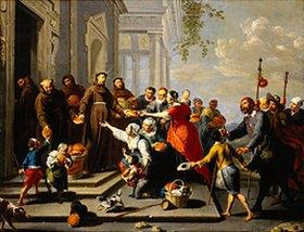 Willem van Herp: Der hl.Antonius von Padua verteilt Brot an die Armen