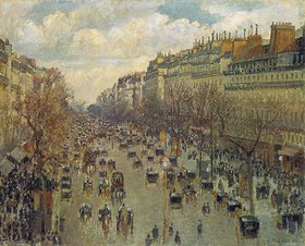 Camille Pissarro: Der Boulevard Montmartre in Paris