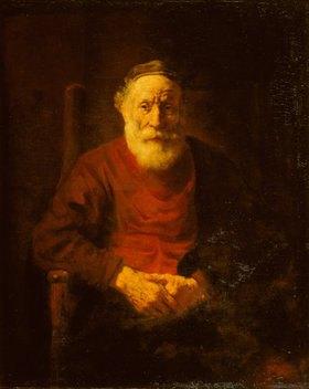 Rembrandt van Rijn: Bildnis eines alten Mannes in rotem Gewand