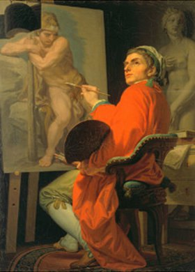 Domenico Corvi: Selbstbildnis