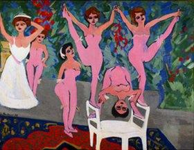 Ernst Ludwig Kirchner: Varietéparade - Parterreakrobatinnen