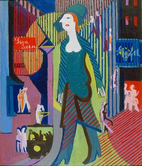 Ernst Ludwig Kirchner: Nachtfrau (Frau geht über nächtliche Strasse)