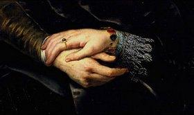 Peter Paul Rubens: Hände-Detail aus Rubens und Isabella in der Geissblattlaube