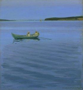Harald Slott-Möller: Bootsfahrt auf dem idyllischen See