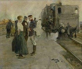Wilhelm Schreuer: Abschied auf dem Bahnsteig