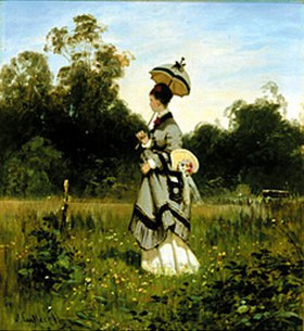 Ascan Lutteroth: Sommerspaziergang in Charlottenburg