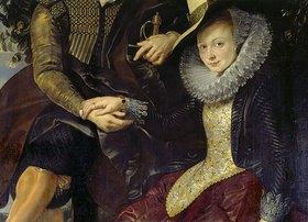 Peter Paul Rubens: Detail aus 'Rubens und Isabella in der Geissblattlaube': Hände des Paares und