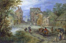 Jan Brueghel d.Ä.: Dorfstrasse