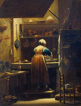 Giuseppe (Lo Spagnuolo) Crespi: Die Küchenmagd