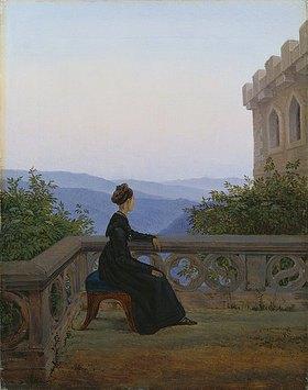 Carl Gustav Carus: Frau auf dem Söller