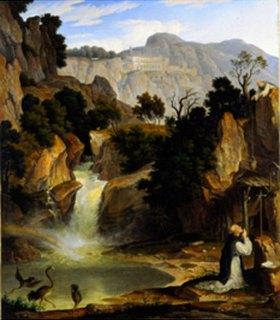 Joseph Anton Koch: Landschaft mit dem hl.Benedikt