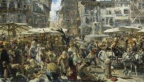 Adolph von Menzel: Piazza d'Erbe zu Verona