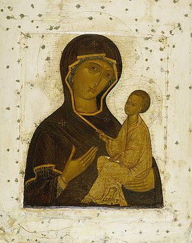 Ikone russisch: Die Gottesmutter von Tichwin (Kopie)