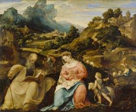 Giovanni Cariani (de Busi): Madonna mit dem Kind, dem hl.Antonius und dem Johannesknaben