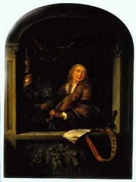 Gerrit (Gerard) Dou: Der Geigenspieler