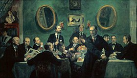 Boris Michailowitsch Kustodiev: Die Maler der Künstlergruppe Kunstwelt