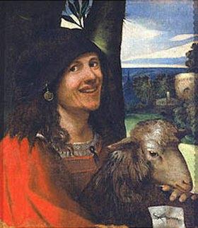 Dosso (Giovanni de Luteri) Dossi: Bildnis eines Hofnarren