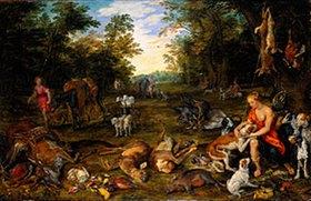 Jan Brueghel d.Ä.: Dianas Heimkehr von der Jagd (Ausgeführt mit P.P. Rubens 1577-1640)