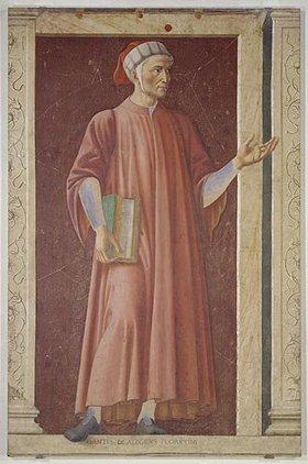 Andrea dal Castagno: Bildnis von Dante Alighieri