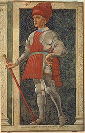 Andrea dal Castagno: Farinata degli Ubert aus der Villa Carducci, Serie