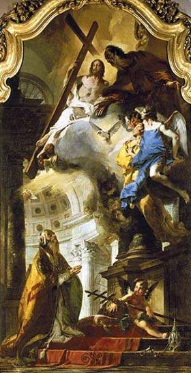 Giovanni Battista Tiepolo: Die Verehrung der Trinität durch den hl. Papst Clemens. Gegen